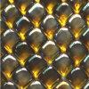 こはく色の立方体のガラス石造りのモザイク