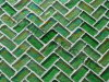 Tuiles de mosaïque en verre iridescentes