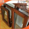 アルミニウム覆われた木製の開き窓のWindowsの組み込みのブラインド必要なシャッター傾きおよび回転Windowsのアフガニスタン人の顧客
