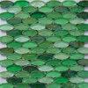 緑のクリスタルグラスのモザイク床タイル