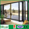 Алюминиевая дверь складки на подобие гармоники с двойным стеклом