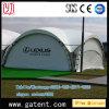 Одиночная крышка стальной структуры PVDF шатра Q235 ферменной конструкции трапа