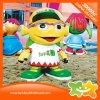 De gele Apparatuur van de Decoratie van het Pretpark van Doll van het Beeldverhaal Plastic voor Verkoop