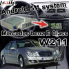 Поверхность стыка Android коробки навигации GPS видео- для экрана Waze Youtube WiFi Bluetooth бросания типа W211 Mercedes-Benz e