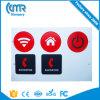 Etiquetas engomadas elegantes de las etiquetas 13.56MHz RFID Ntag203 de NFC para los nexos HTC LG Sony Xperia Xiaomi de la galaxia Note3 Nokia Lumia de Samsung