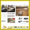 De natuurlijke Opgepoetste Bruine/Zwarte TegenBovenkant van het Graniet van de Keuken voor Home/Bathroom/Hotel