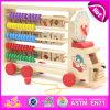 Caminhão de madeira Multifunctional do brinquedo do alfabeto do ábaco, carro educacional W12c008 do brinquedo do ábaco do alfabeto