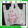 Bio sac blanc en plastique dégradable de gilet de supermarché imprimé par HDPE