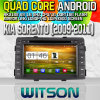 Rk3188 Quad Core HD 1024X600 Screen 16GB Flash 1080P WiFi 3G Front DVR DVB-TミラーLink (W2-M041)とのWitson S160 Car DVD GPS Player KIA Sorento (2009-2011年)