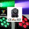CER RoHS 7PCS 12W beweglicher Kopf der Träger-Wäsche-LED