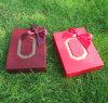 Cajas de almacenaje de papel granulosas rojas del caramelo