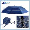 Ombrello di volta della pioggia 2 antivento automatici blu di alta qualità