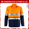 こんにちはMenのためのVis Safety Long Sleeve Work Shirts