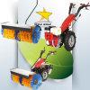 Elektrische Diesel 2 Tractor 2 van het Wiel het Lopen van het Wiel de Gang van de Tractor achter Tractor
