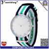 Senhora de nylon Moda Pingamento Observação do pulso do relógio da cinta da OTAN das senhoras elegantes novas do relógio do diamante da forma Yxl-214 2017