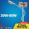 6 de 30W 50W 80W da potência solar do diodo emissor de luz medidores de luz de rua