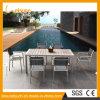 Nuevo jardín del ocio del diseño 2017 que cena el conjunto moderno de aluminio de los bistros del vector de la silla de los muebles