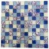 Azulejo de mosaico de cristal azul, buena opción del mosaico de cristal cuadrado