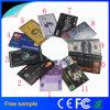 Cartão plástico livre Pendrive do crédito da impressão de cor