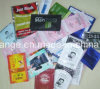 Medicinas de los cosméticos de los alimentos pila de discos la película