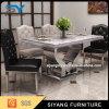 Tabela de jantar superior do mármore do aço inoxidável do fabricante de China