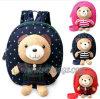 Le dessin animé de promotion badine le sac de sac à dos d'élève de bébé d'enfants avec des poupées d'ours