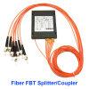 ABS boxen mit Faser-optischem Teiler Fbt des St/Upc Verbinder-1X6