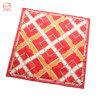 点検されたあや織りの絹のカスタム正方形のスカーフ