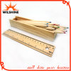 7 ' Color en bois Pencil avec Ruler Lid pour Gift (MP013)