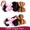 Weave frouxo brasileiro do cabelo da onda de Ombre do Virgin livre químico por atacado