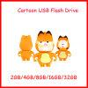 Movimentação do flash do USB do gato de Pendrive da vara do USB dos desenhos animados