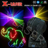 luz laser de la cabeza móvil azulverde roja 1800MW, luz laser giratoria