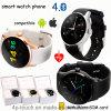 Téléphone intelligent de montre de Bluetooth de modèle rond avec la fréquence cardiaque (K88S)