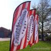 Подгонянная печать логоса компании рекламируя знамя Поляк флага пера промотирования