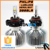 All Cars H16를 위한 45W Phi-Lips LED Headlight Adjustable Length
