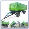 Tractor Opgezette Aanhangwagen 3 van het Landbouwbedrijf het Zij Dumpen