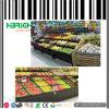 Stands en bois et en acier de légume de supermarché