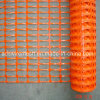 Rete fissa d'avvertimento di sicurezza di plastica arancione
