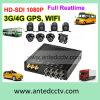 3G/4G/GPS/WiFi Manica antivibrazione DVR mobile dello SSD SATA HDD 8 per i veicoli dei camion dei bus