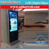 Dünnes WiFi Hotel 42 Zoll-Fußboden, der Digital bekanntmachen Bildschirm LCD-Bildschirmanzeige steht