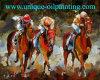 Het rennen Olieverfschilderij, Berijdend Olieverfschilderij, het Olieverfschilderij van het Paard