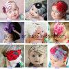 Flower를 가진 2015 최고 Baby Handmade Baby Christmas Lace Feather Headband
