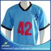 Camisa de secado rápido del juego del lacrosse de la sublimación de encargo
