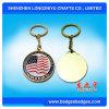 Regali del ricordo di Keychain del metallo del supporto di tasto della moneta di Keychain della bandiera americana