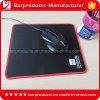Tissus noirs de polyester piquant la garniture en caoutchouc de Razer de souris