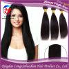 с человеческих волос Black Straight Virgin Remy Hair Weft (HSTB-F599)