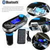 De super FM Transmitter van Hot Sale Bluetooth Car Kit Handsfree MP3 Player met 2port USB Charger Support BR Card