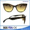 Lentes redondas del Gato-Ojo de la vendimia de las gafas de sol del color de las mujeres retras del marco