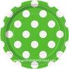 verde 7 con las placas de cena blancas del papel del PUNTO