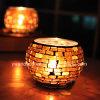 Personifizierte Mosaik-Glas-Kerze-Halterung